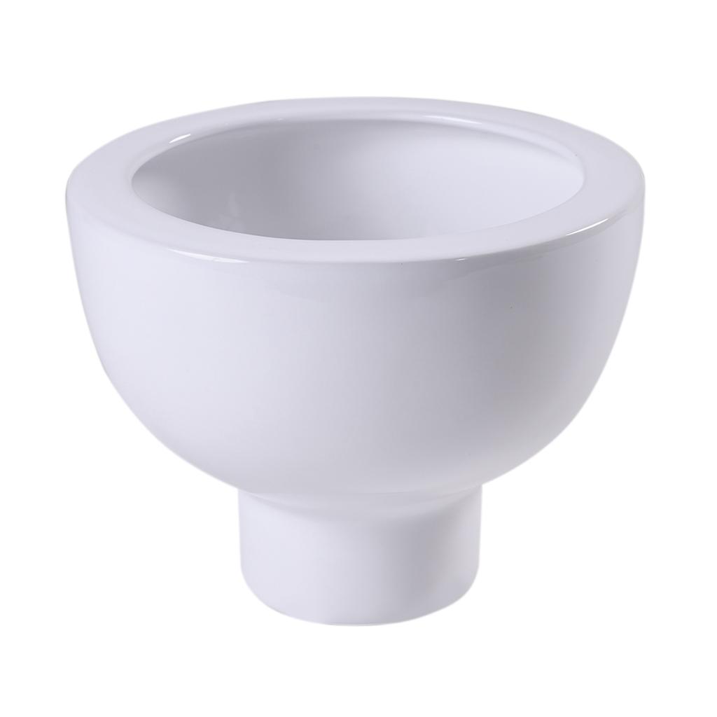 Vaso em cerâmica branca Midoro