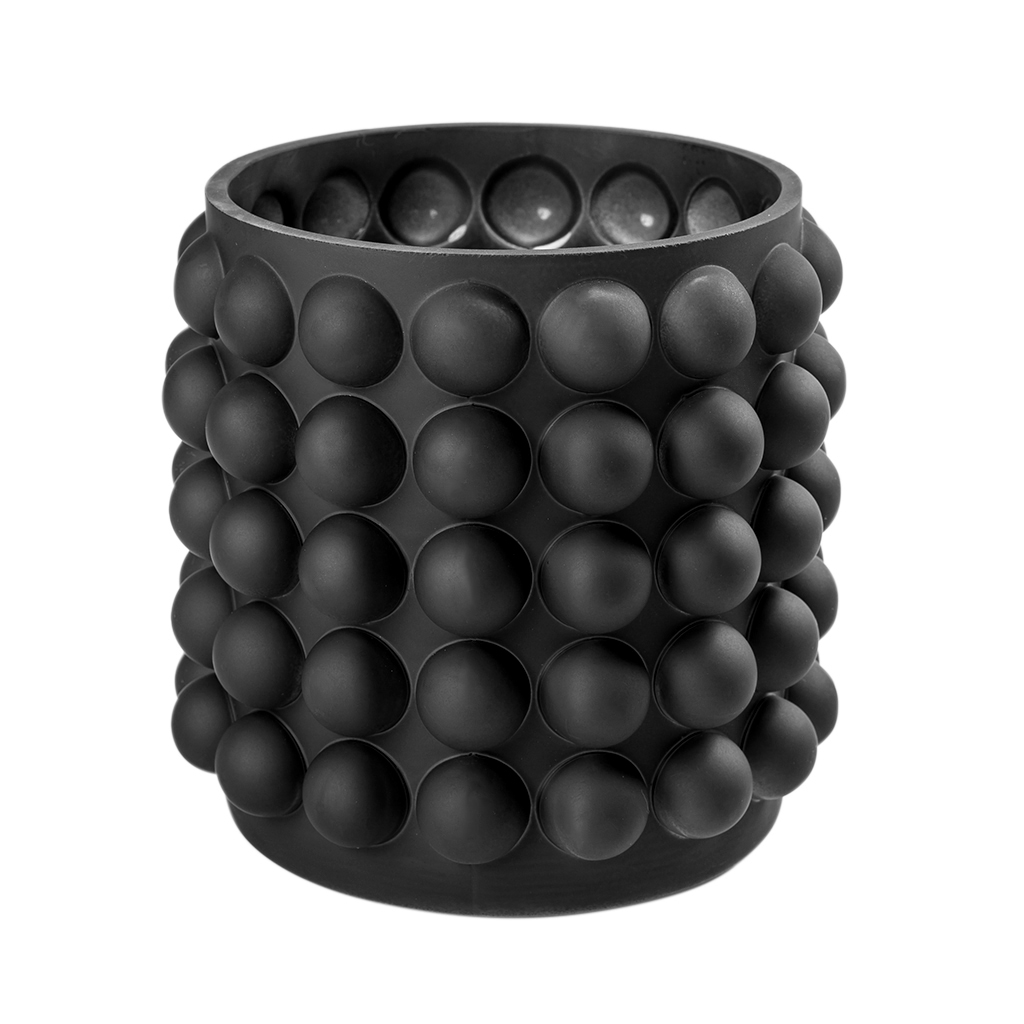 Vaso Reto bolas preto baixo