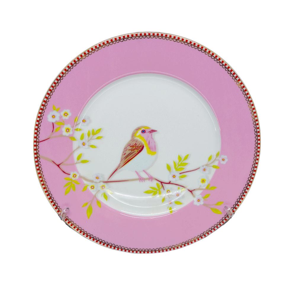 Prato de Sobremesa Early Bird Rosa