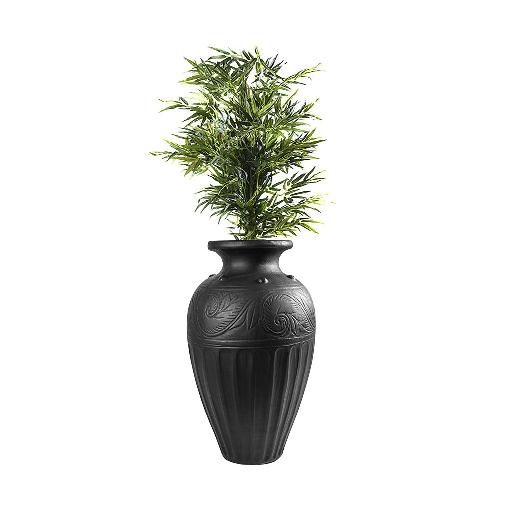 Vaso de chão preto