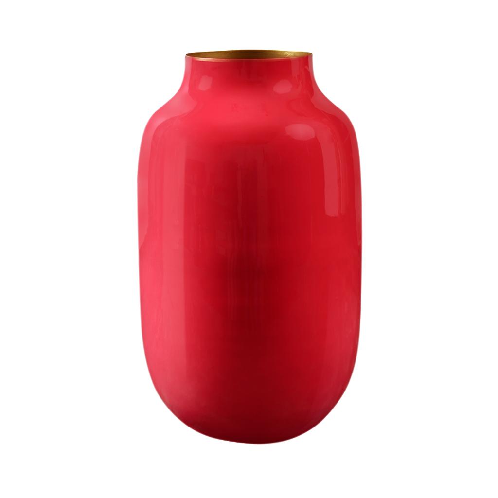 Vaso de metal Oval Rosa