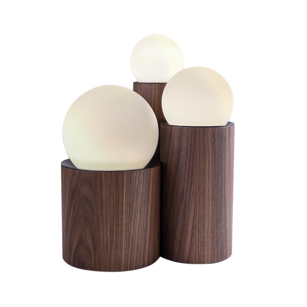 Luminária A219  Cor café nogueira