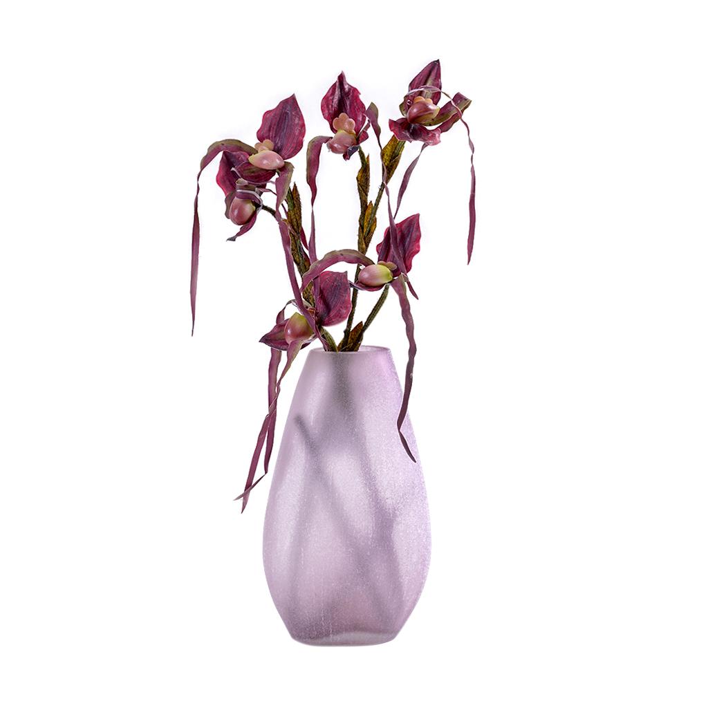 Vaso de vidro rosè alto