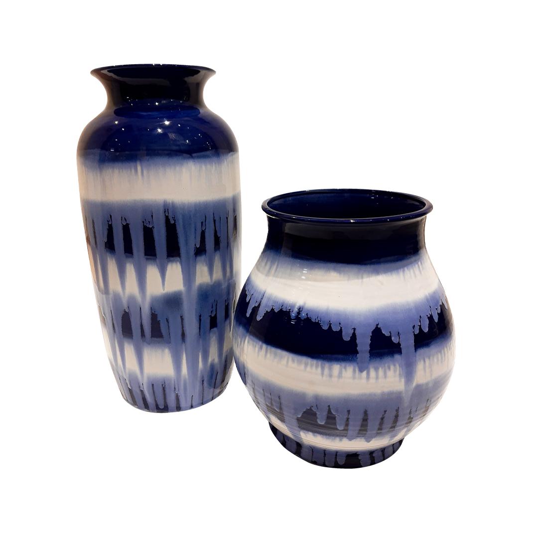 Vaso Blue Kanji Baixo