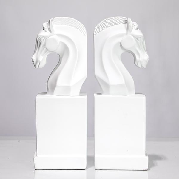Escultura em Resina - Busto Cavalo Branco