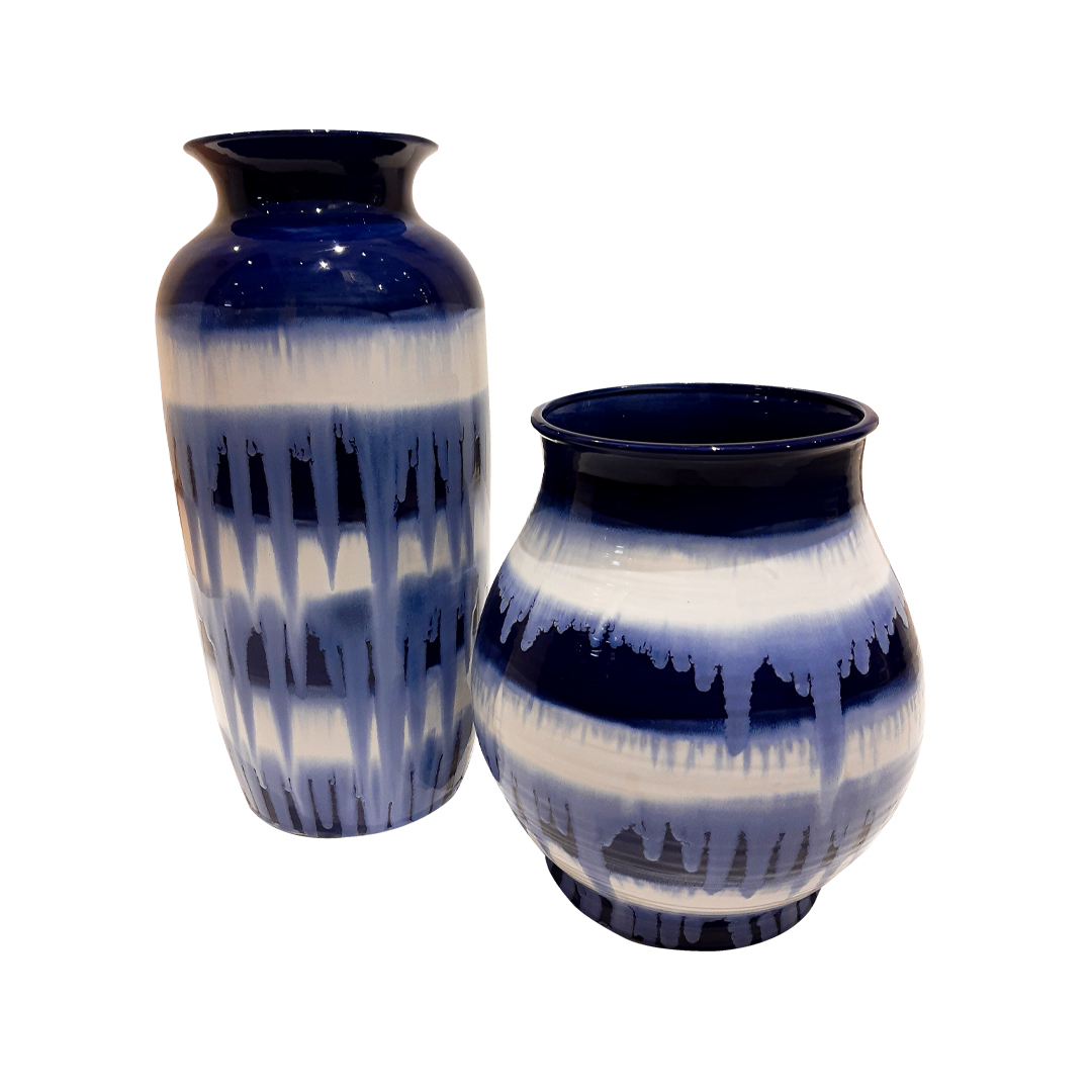 Vaso Blue Kanji Alto