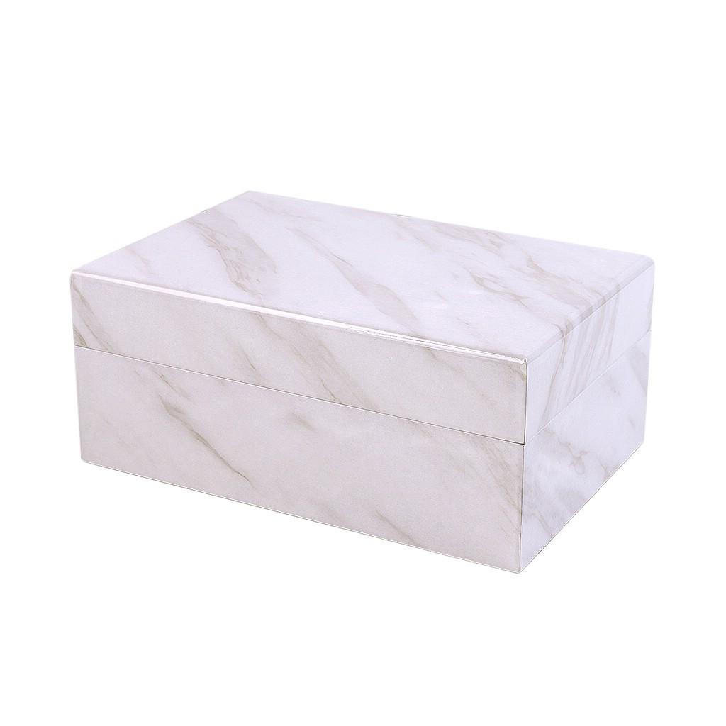 Caixa decorativa em madeira branca G