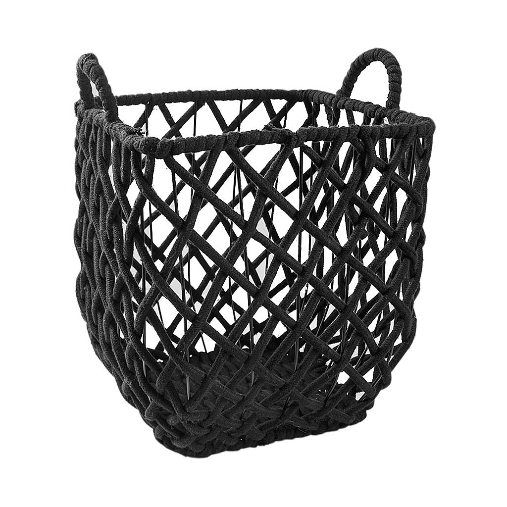 Conj cestos em algodão preto