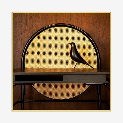 Quadro Pássaro Vintage