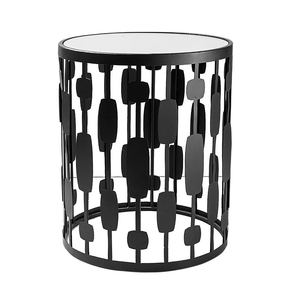 Mesa lateral Arte Deco preta