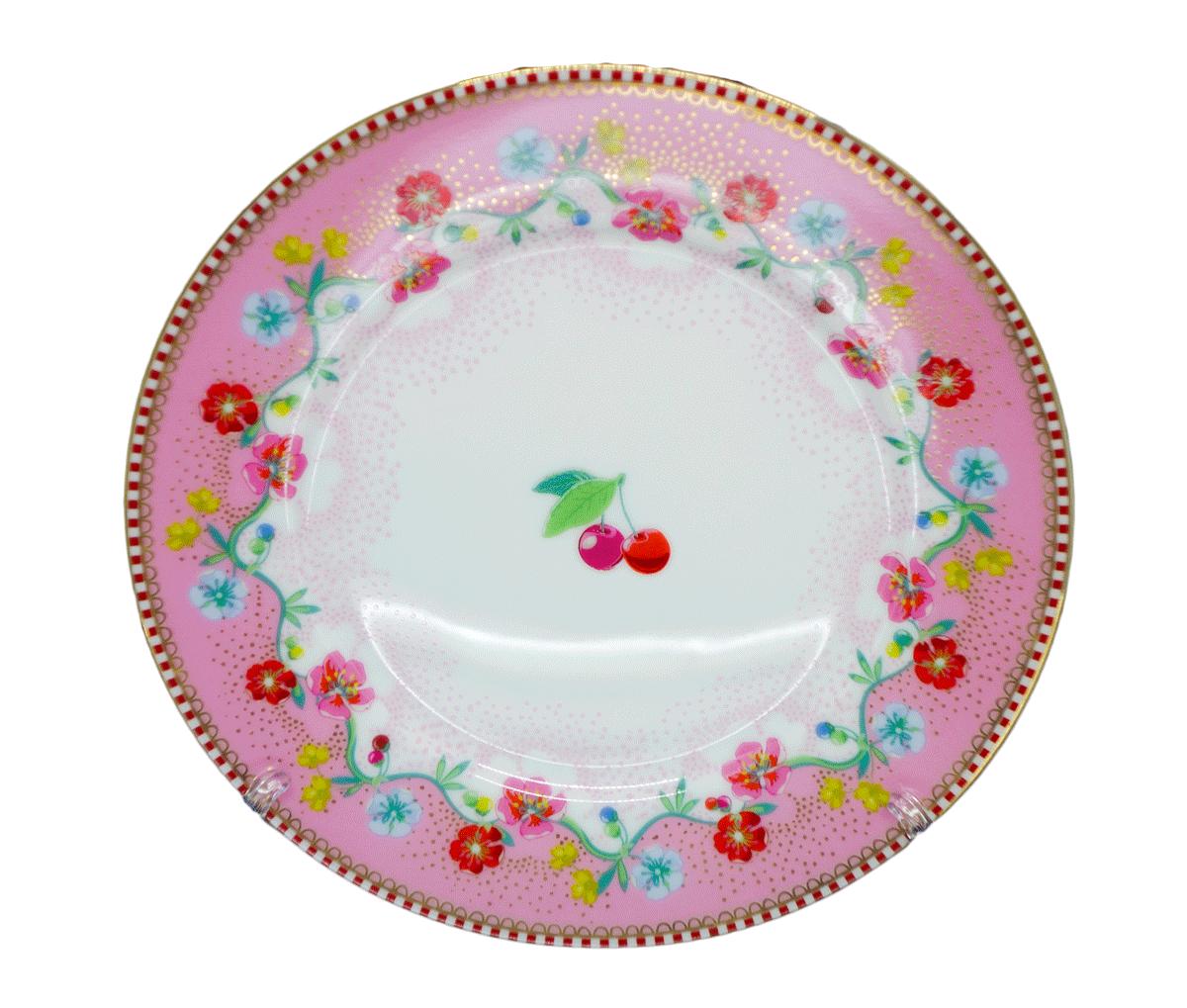 Prato de Pão Cherry Rosa