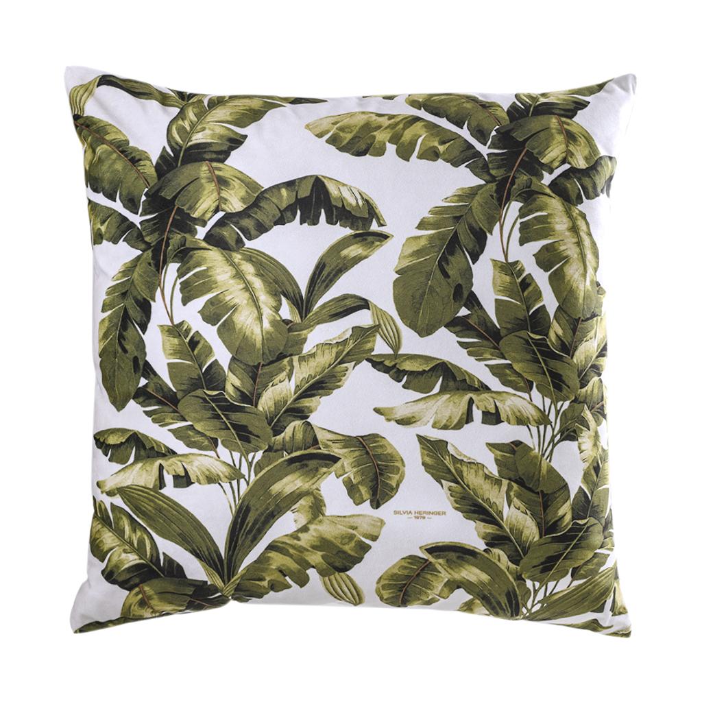 Almofada de veludo folhas