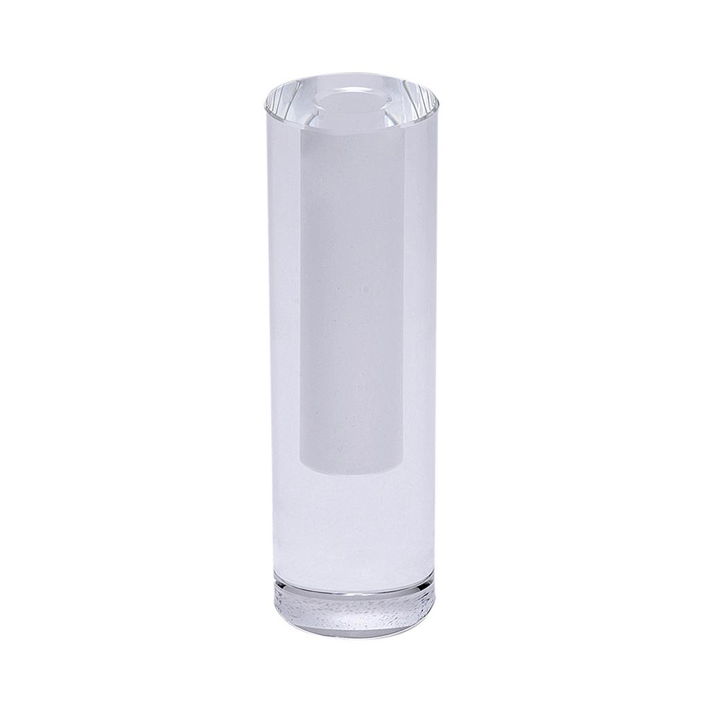Castiçal Cilindro em cristal