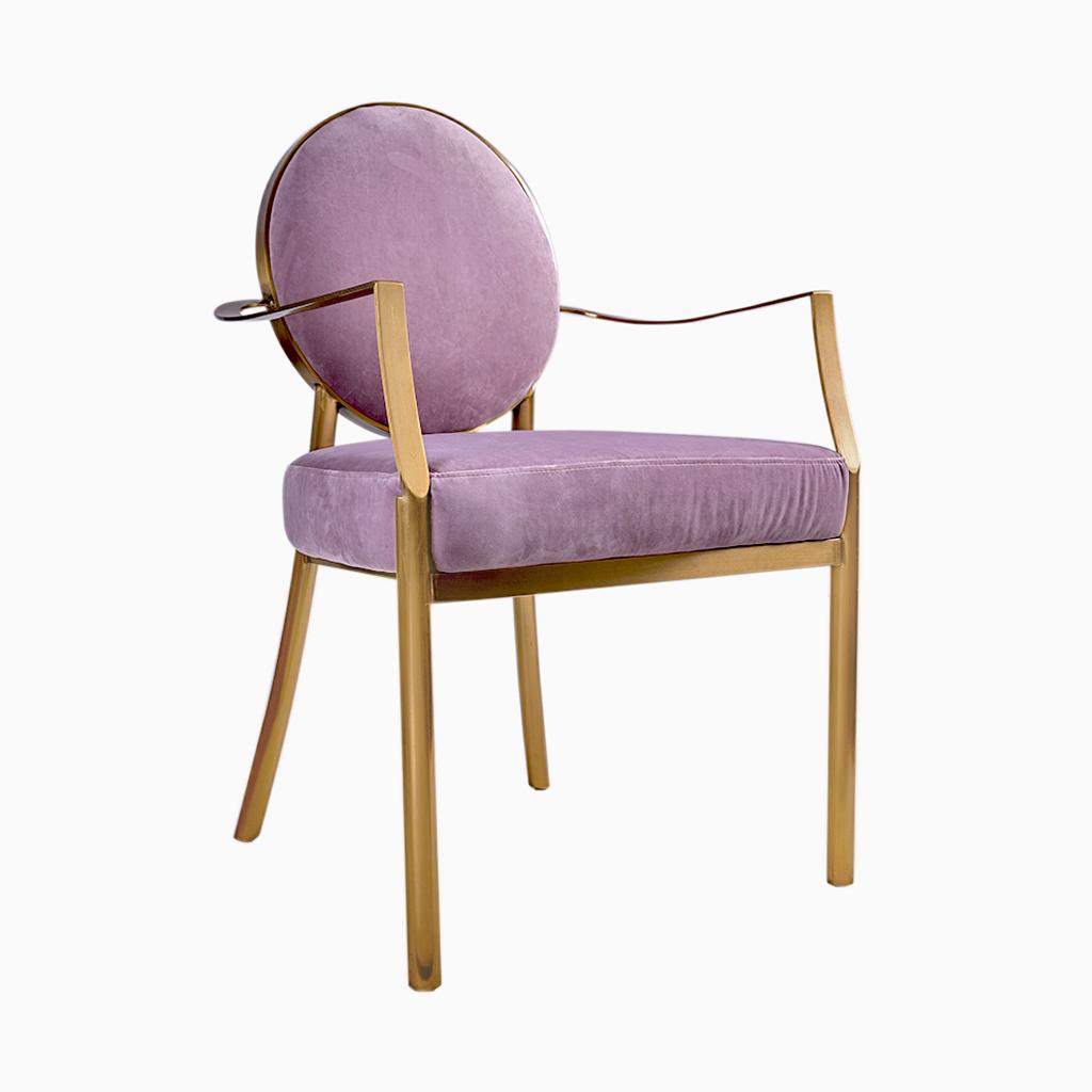 Cadeira Onassis Veludo rosa