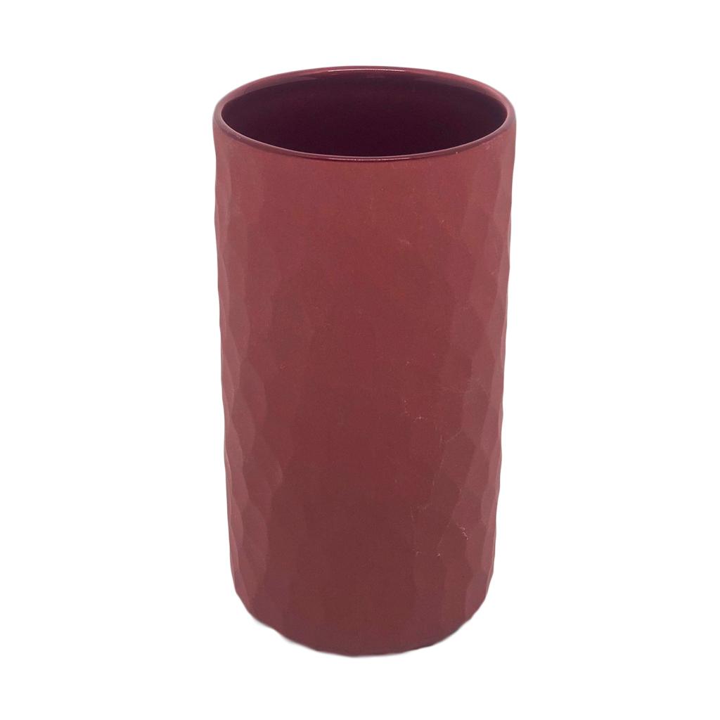 Vaso Carve vermelho pequeno