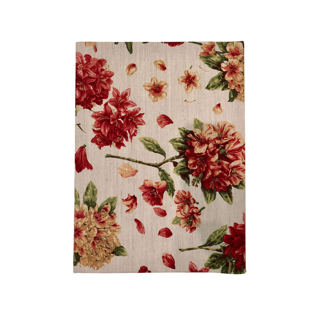 Jogo americano floral  cor coral