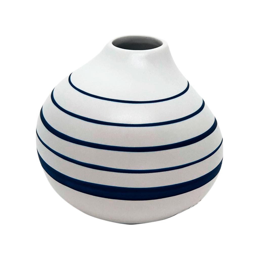 Vaso pequeno azul e branco