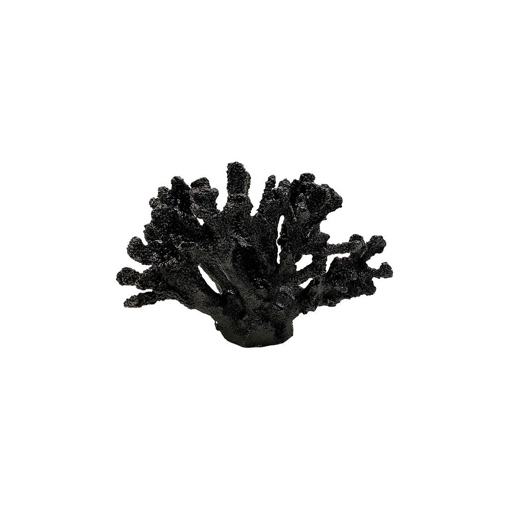 Coral decorativo preto