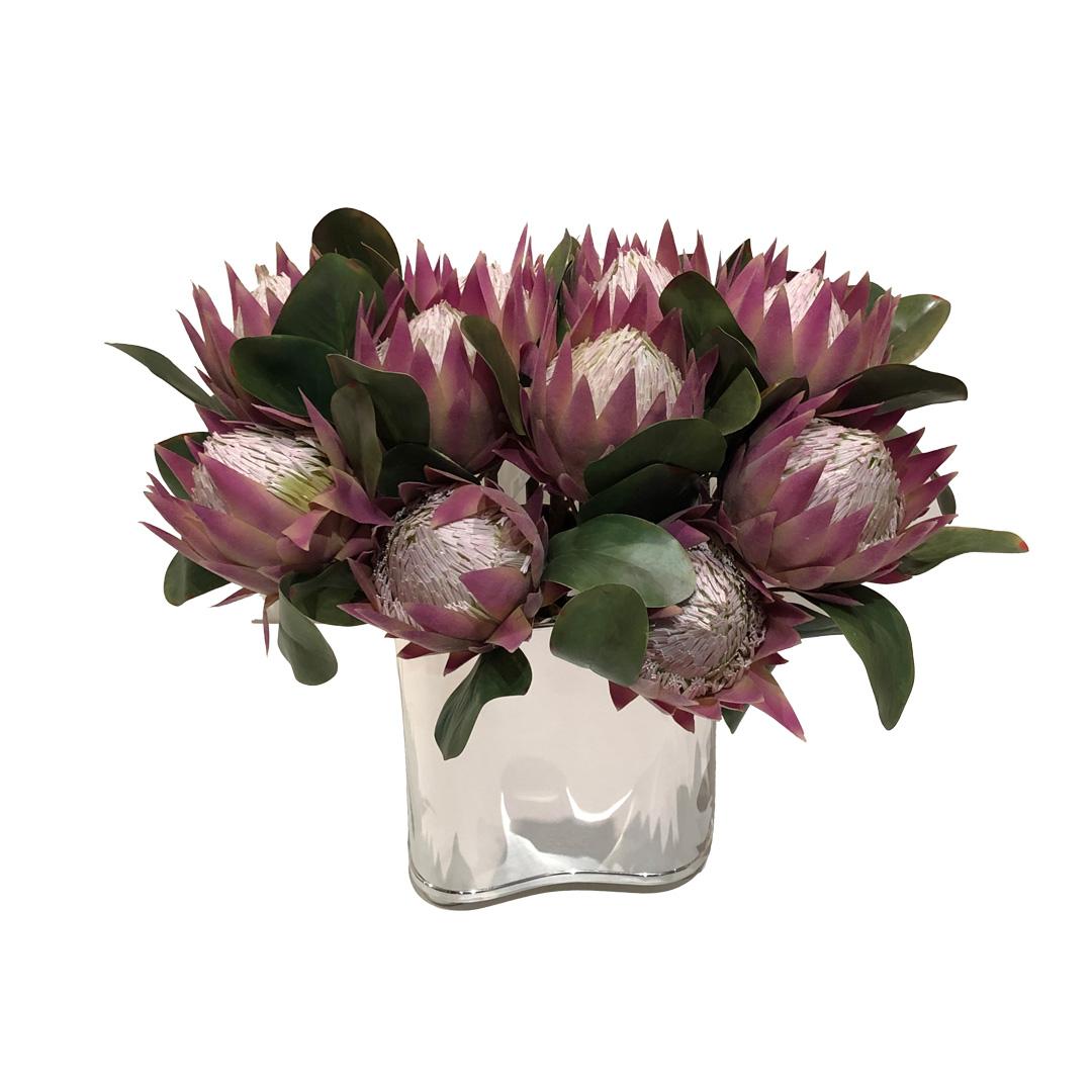 Haste de Protea Rosa