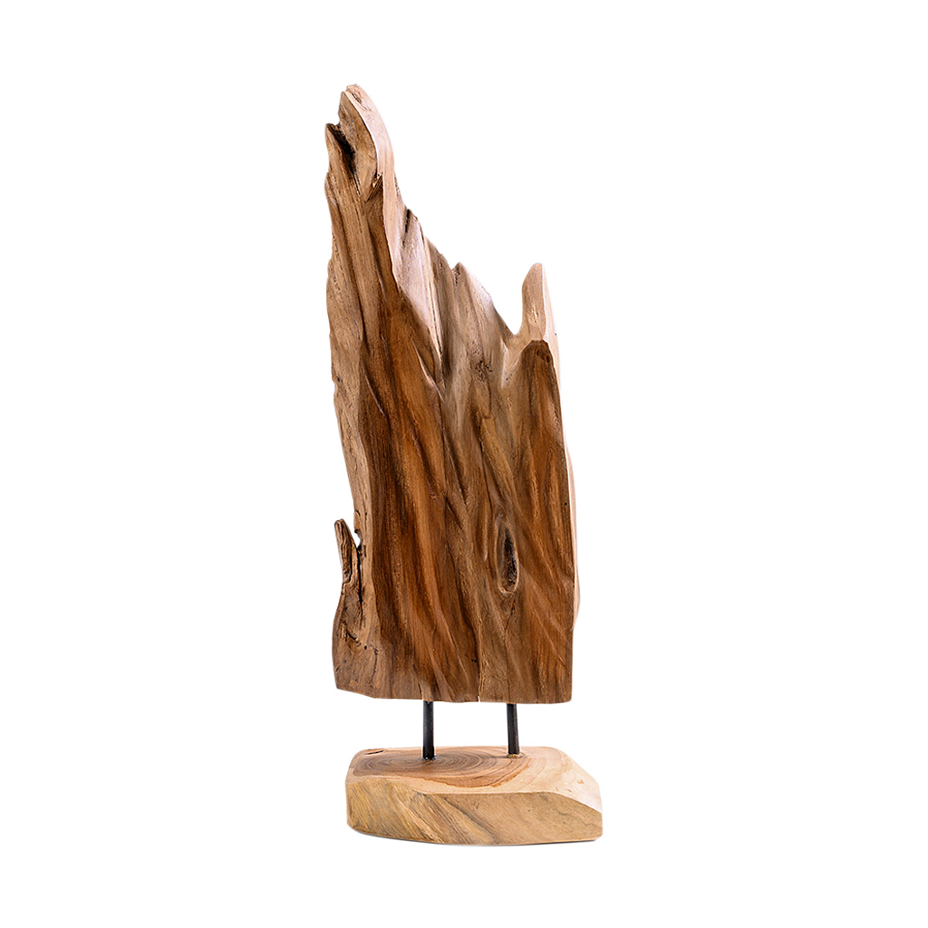 Adorno de madeira orgânico