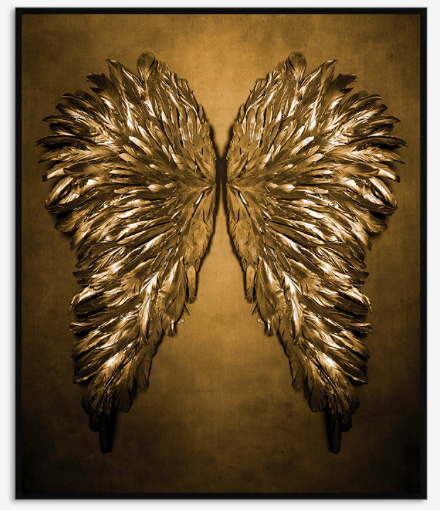 Quadro Gold Wings