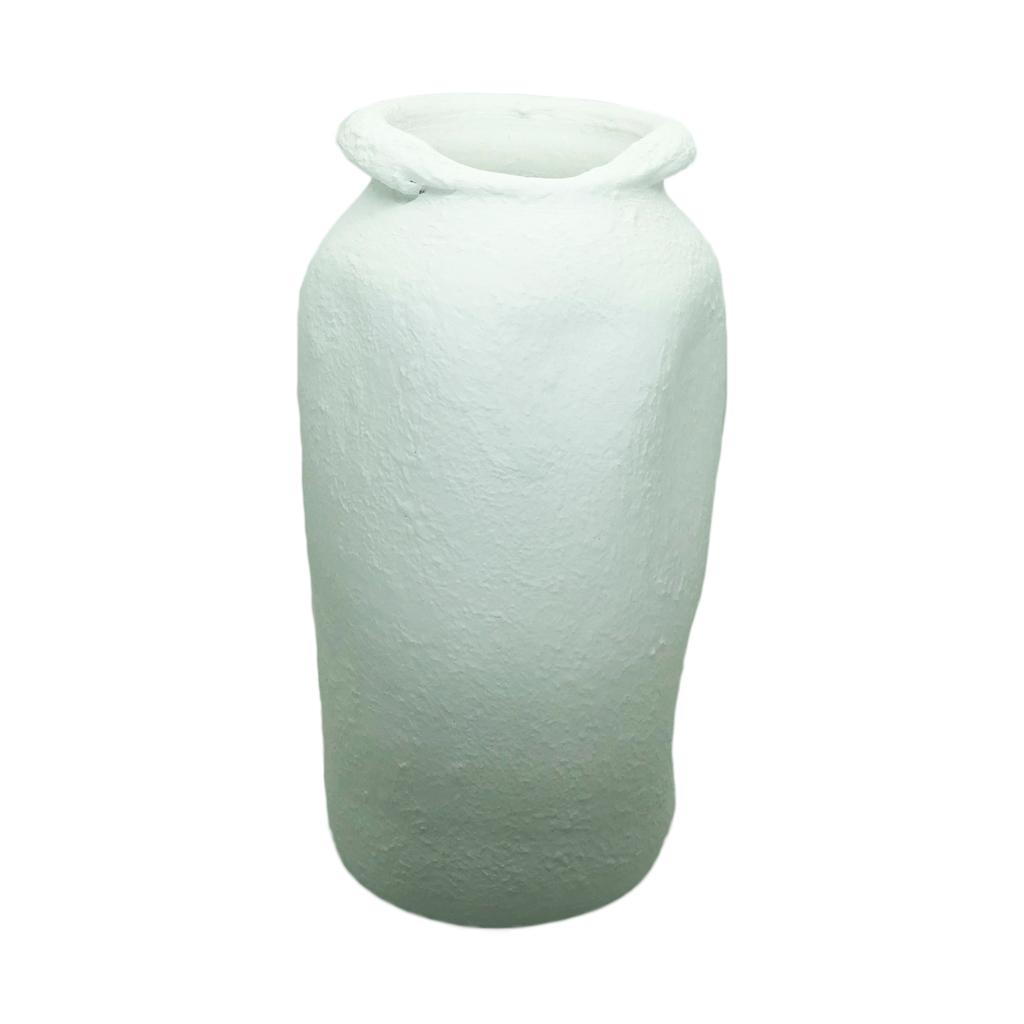 Vaso em cerâmica branco alto