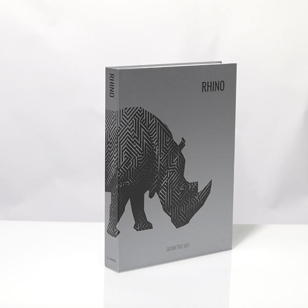 Caixa Livro Metalizada Rhino Geometric