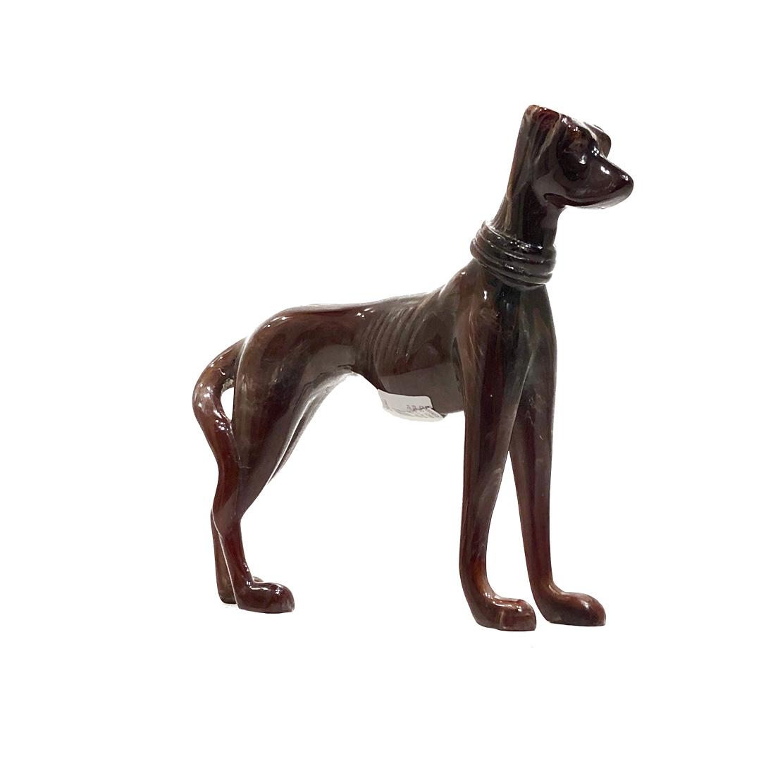 Escultura cachorro em pé - Resina