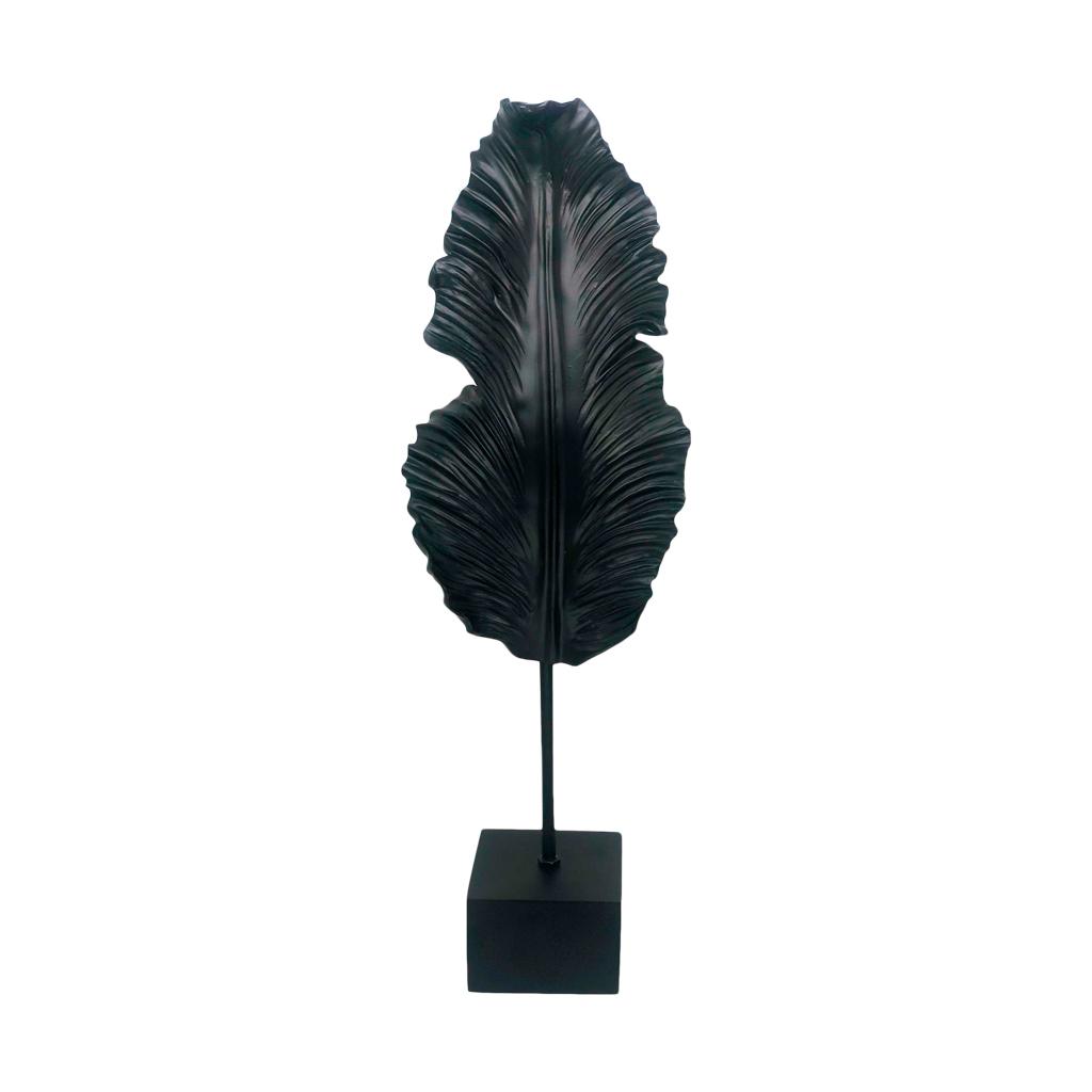 Escultura Folha de bananeira preta