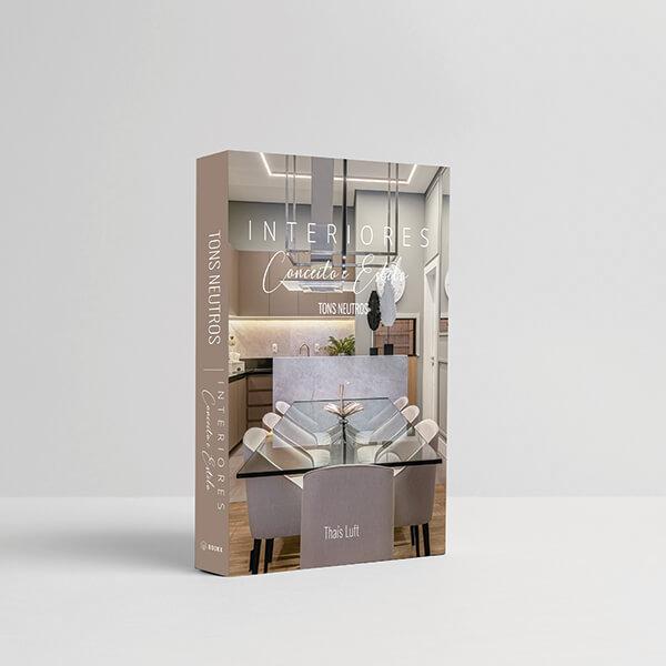 Caixa Livro Interiores Tons Neutros