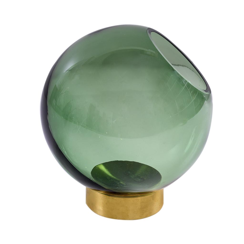Vaso de vidro com base dourada Pols P