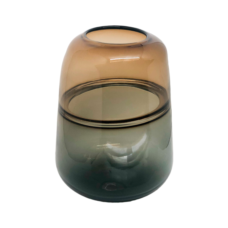 Vaso vidro fumê P