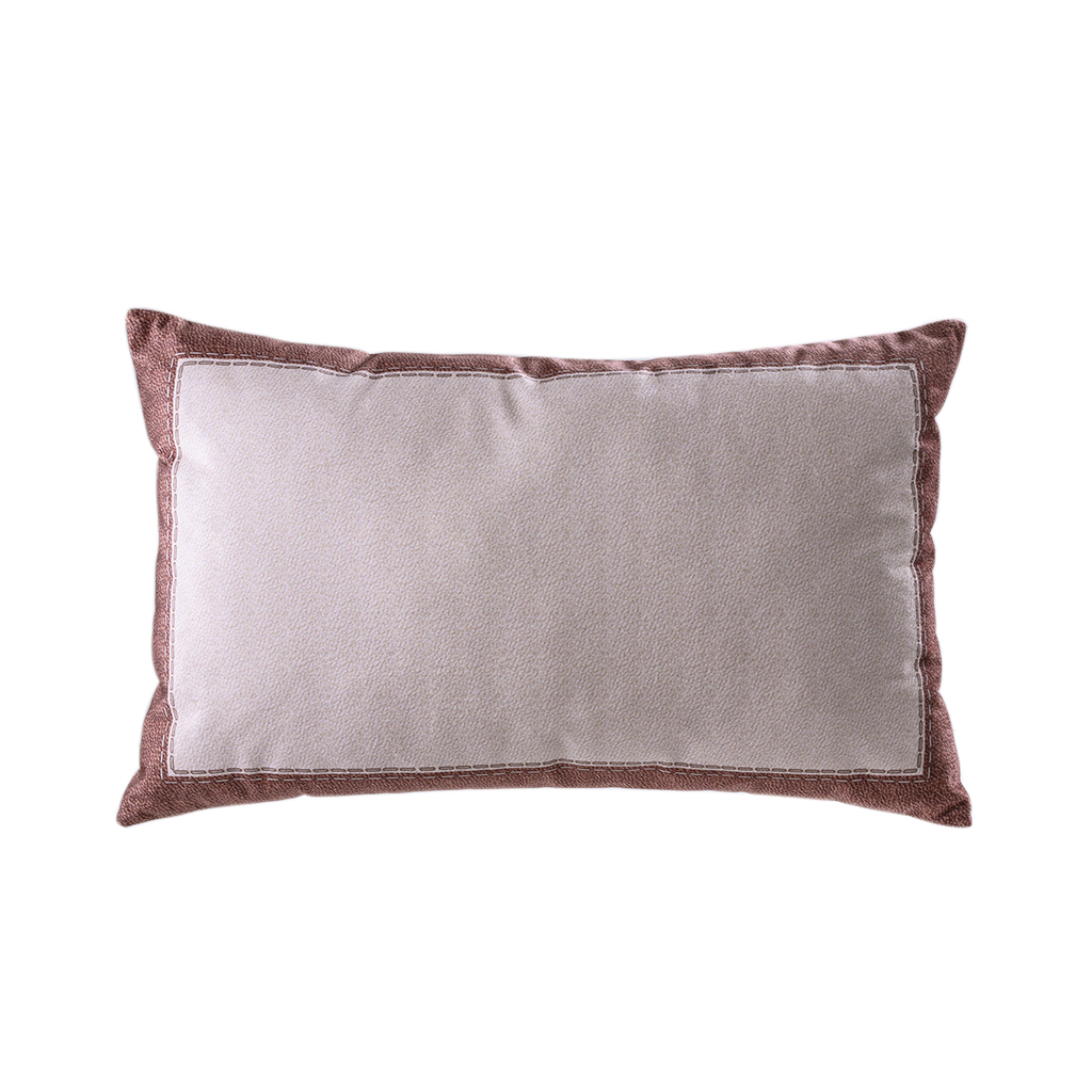 Almofada de veludo rosê